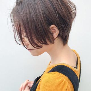 大人かわいい 丸みショート コンサバ ショート ヘアスタイルや髪型の写真・画像