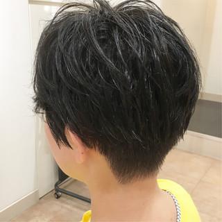 ショート 刈り上げショート ベリーショート ショートヘア ヘアスタイルや髪型の写真・画像