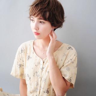 ショート ナチュラル 外国人風 N.オイル ヘアスタイルや髪型の写真・画像