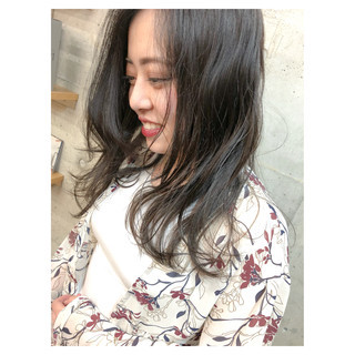 ハイライト ラベンダーアッシュ 女子力 セミロング ヘアスタイルや髪型の写真・画像