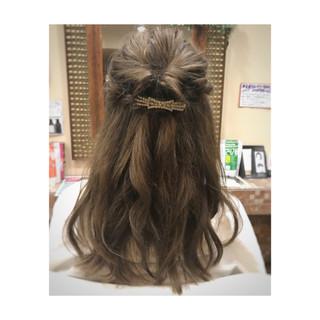 ヘアアレンジ ナチュラル ロング 簡単ヘアアレンジ ヘアスタイルや髪型の写真・画像