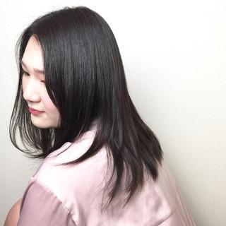 ナチュラル ピンク ストレート アッシュ ヘアスタイルや髪型の写真・画像