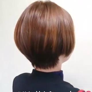 ハンサムショート ショートヘア 小顔ショート ナチュラル ヘアスタイルや髪型の写真・画像