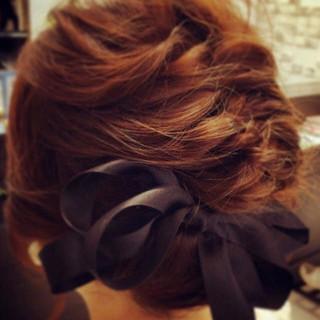 結婚式 フェミニン 透明感 デート ヘアスタイルや髪型の写真・画像