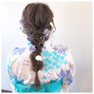 フェミニン ロング 和装 ヘアアレンジ ヘアスタイルや髪型の写真・画像