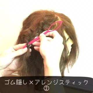 ハーフアップ 大人女子 ショート 簡単ヘアアレンジ ヘアスタイルや髪型の写真・画像