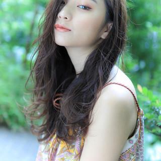 コテアレンジ コテ巻き 簡単ヘアアレンジ ナチュラル ヘアスタイルや髪型の写真・画像