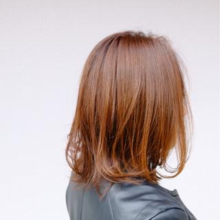 ストリート オレンジベージュ アプリコットオレンジ オレンジ ヘアスタイルや髪型の写真・画像
