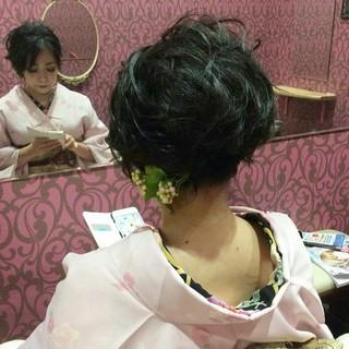 上品 エレガント ボブ 結婚式 ヘアスタイルや髪型の写真・画像