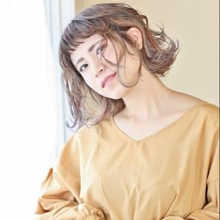 ウェットヘア ラベンダーピンク ボブ モード ヘアスタイルや髪型の写真・画像