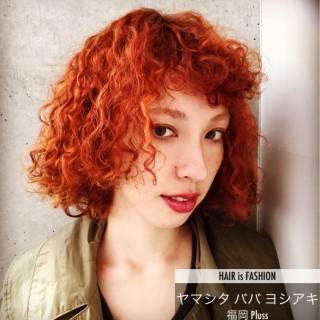 パーマ 冬 ストリート ボブ ヘアスタイルや髪型の写真・画像