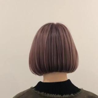 ミニボブ デート ボブ ガーリー ヘアスタイルや髪型の写真・画像