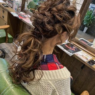 フェミニン ロング ヘアセット 結婚式 ヘアスタイルや髪型の写真・画像
