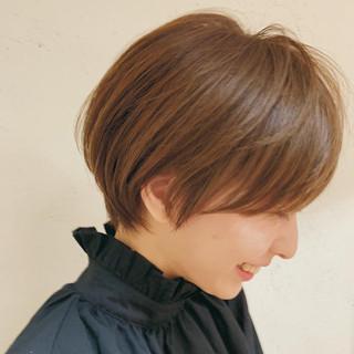 ベリーショート ミニボブ ショートヘア 切りっぱなしボブ ヘアスタイルや髪型の写真・画像
