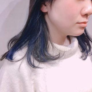 ミルクティーグレージュ ブルージュ ブルー ストリート ヘアスタイルや髪型の写真・画像