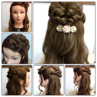 簡単ヘアアレンジ ショート 大人かわいい 編み込み ヘアスタイルや髪型の写真・画像 ヘアスタイルや髪型の写真・画像
