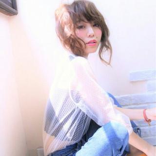 簡単ヘアアレンジ ショート ヘアアレンジ フェミニン ヘアスタイルや髪型の写真・画像