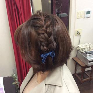 ナチュラル ヘアアレンジ 結婚式ヘアアレンジ 編み込みヘア ヘアスタイルや髪型の写真・画像