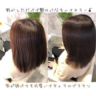 美髪 ナチュラル ナチュラル可愛い ミディアム ヘアスタイルや髪型の写真・画像