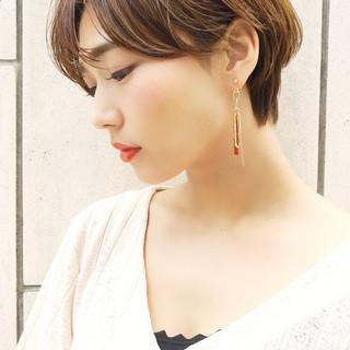 大人かわいい コンサバ ショート 丸みショート ヘアスタイルや髪型の写真・画像