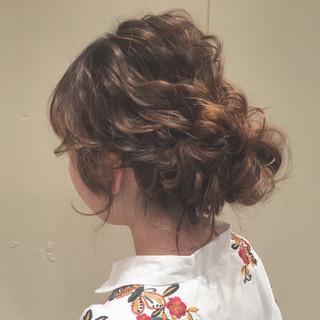 波ウェーブ セミロング ヘアアレンジ ナチュラル ヘアスタイルや髪型の写真・画像