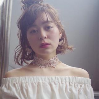 ボブ 色気 ハイトーン フェミニン ヘアスタイルや髪型の写真・画像