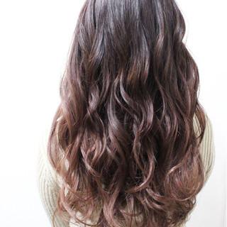 透明感 ハイライト ハイトーン ロング ヘアスタイルや髪型の写真・画像