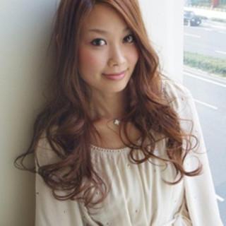ゆるふわ パーマ コンサバ ハイライト ヘアスタイルや髪型の写真・画像