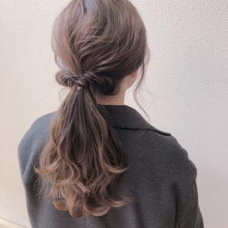 ヘアセット 簡単ヘアアレンジ セルフヘアアレンジ ナチュラル ヘアスタイルや髪型の写真・画像