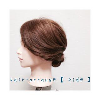 ミディアム ヘアアレンジ 簡単ヘアアレンジ ギブソンタック ヘアスタイルや髪型の写真・画像
