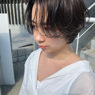 ショート 成人式 アンニュイほつれヘア パーティ ヘアスタイルや髪型の写真・画像