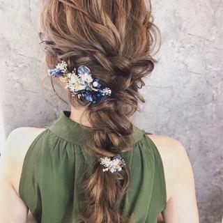 大人かわいい ナチュラル 結婚式 ロング ヘアスタイルや髪型の写真・画像