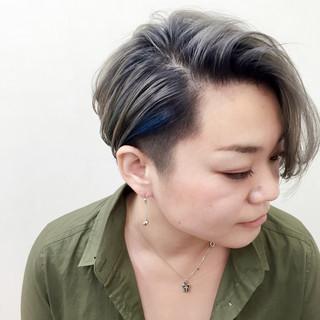 モード ホワイト アッシュ 外国人風 ヘアスタイルや髪型の写真・画像