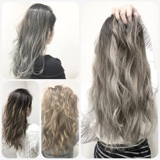 ハイライト アッシュ ブラウン グラデーションカラー ヘアスタイルや髪型の写真・画像