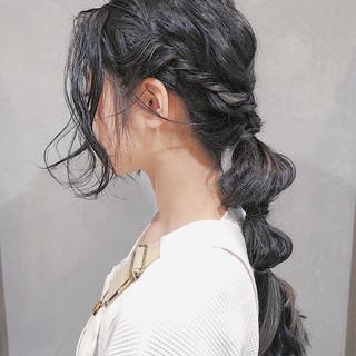 涼しげ 夏 ヘアアレンジ ガーリー ヘアスタイルや髪型の写真・画像 ヘアスタイルや髪型の写真・画像