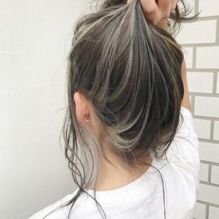 外国人風カラー ミディアム 外国人風 ナチュラル ヘアスタイルや髪型の写真・画像
