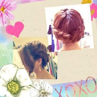 結婚式 編み込み ストリート ヘアアレンジ ヘアスタイルや髪型の写真・画像 ヘアスタイルや髪型の写真・画像