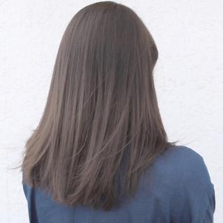 ハイトーン 透明感 ストレート グラデーションカラー ヘアスタイルや髪型の写真・画像