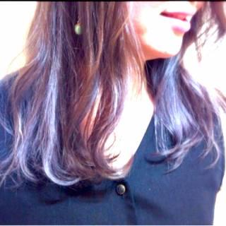 ゆるふわ グラデーションカラー ストリート ナチュラル ヘアスタイルや髪型の写真・画像