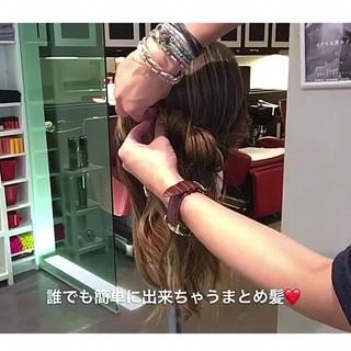 エレガント オフィス デート 簡単ヘアアレンジ ヘアスタイルや髪型の写真・画像