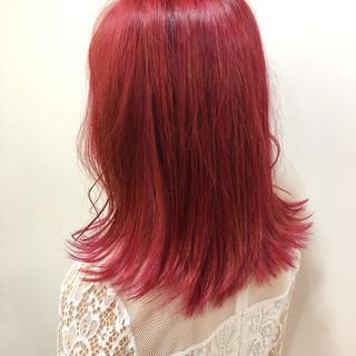 ミディアム ベリーピンク ラベンダーピンク ピンクバイオレット ヘアスタイルや髪型の写真・画像