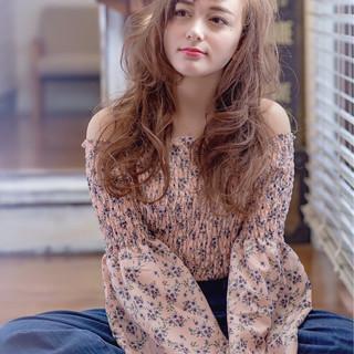 グレージュ 外国人風カラー ロング 外国人風 ヘアスタイルや髪型の写真・画像
