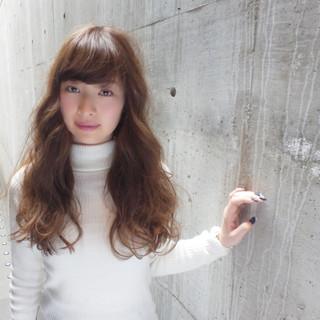 ロング アッシュ 外国人風 ブラウン ヘアスタイルや髪型の写真・画像