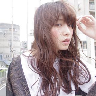 ピュア ストリート 暗髪 ワイドバング ヘアスタイルや髪型の写真・画像