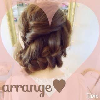 編み込み ゆるふわ モテ髪 ヘアアレンジ ヘアスタイルや髪型の写真・画像 ヘアスタイルや髪型の写真・画像