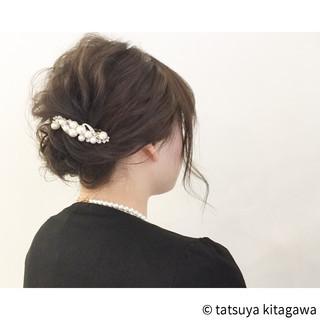 外国人風 ボブ ヘアアレンジ 結婚式 ヘアスタイルや髪型の写真・画像