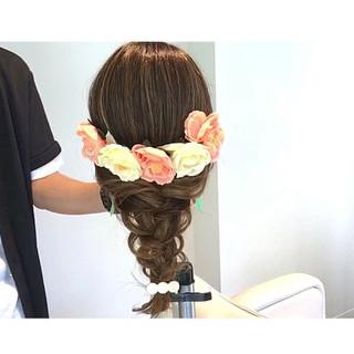 簡単ヘアアレンジ ショート ナチュラル ヘアアレンジ ヘアスタイルや髪型の写真・画像