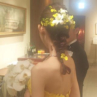 ヘアアレンジ 上品 エレガント 結婚式 ヘアスタイルや髪型の写真・画像