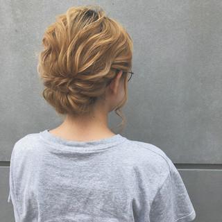成人式 結婚式 簡単ヘアアレンジ ミディアム ヘアスタイルや髪型の写真・画像