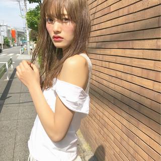 色気 抜け感 おフェロ セミロング ヘアスタイルや髪型の写真・画像 ヘアスタイルや髪型の写真・画像